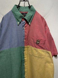 """1990's """"CHAPS Ralph Lauren"""" S/S B.D Shirt"""