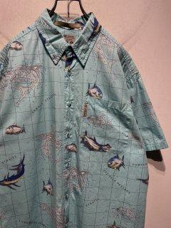 """Columbia"" S/S Pattern Shirt 「Fish」"
