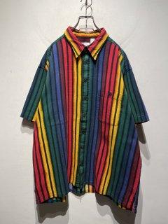 OLD S/S Multi Color Stripe Shirt