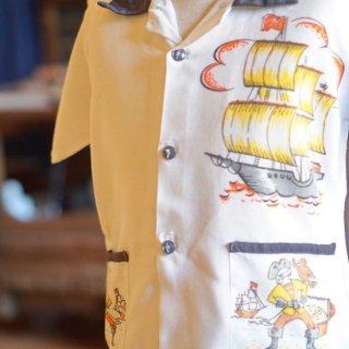 ヴィンテージマリン柄キッズシャツ