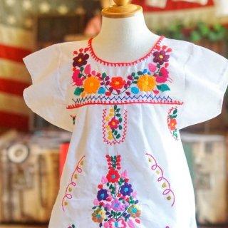 キッズメキシカン刺繍ワンピース