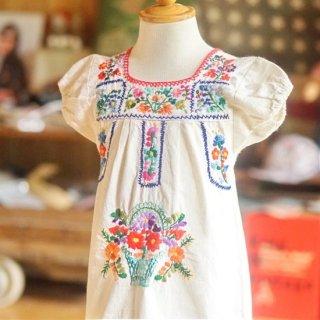 ベビーメキシカン刺繍ワンピース