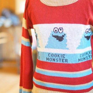 ヴィンテージクッキーモンスターニットセーター