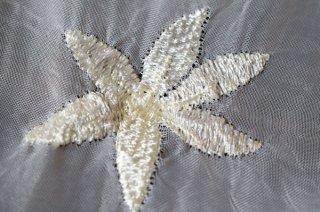 【生地】端切れ*小花柄刺繍 薄手 布地 95cm×160cm 白 輸入生地