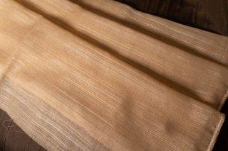 【生地】オレンジベージュ ピンストライプ 布地 幅120cm×丈300cm 輸入生地