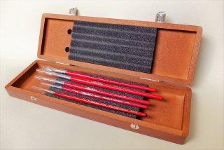 リレッド 特製木箱入り 筆5本セット ver. REALRED