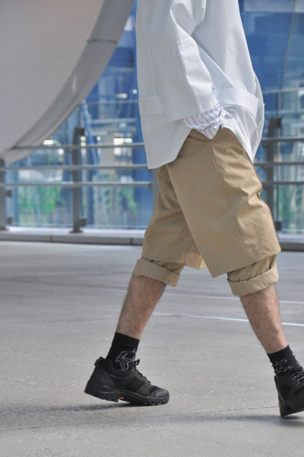 Chalayan / DOUBLE LAYER SHORTS / BEIGE