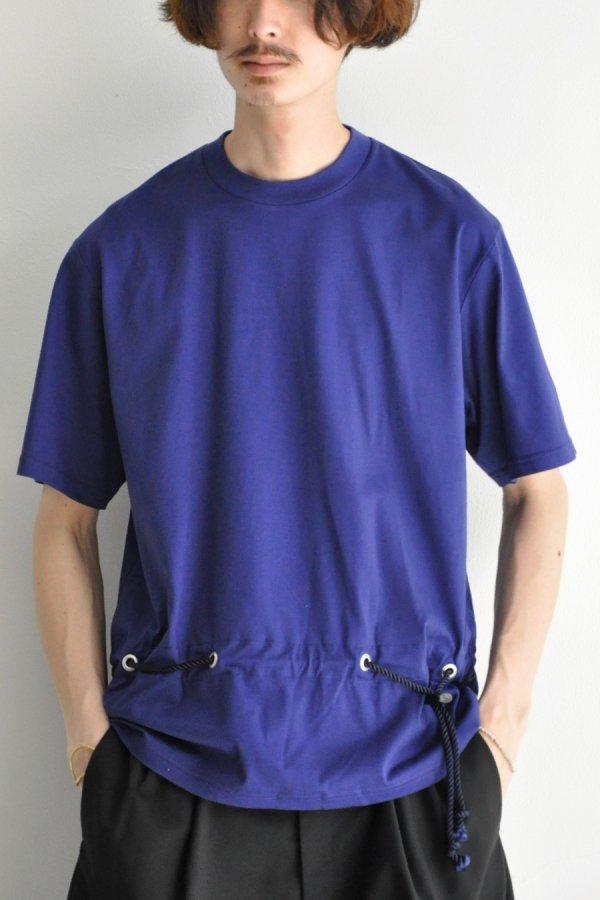 ETHOSENS / STRING BELT T-SHIRT / BLUE