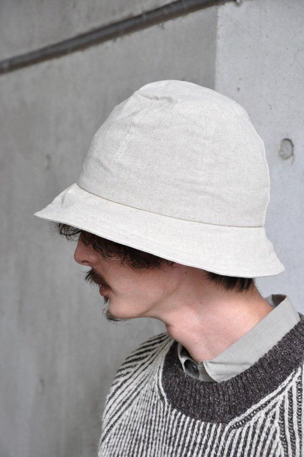 JAN JAN VAN ESSCHE / HAT#6 / NATURAL COATED FLAX