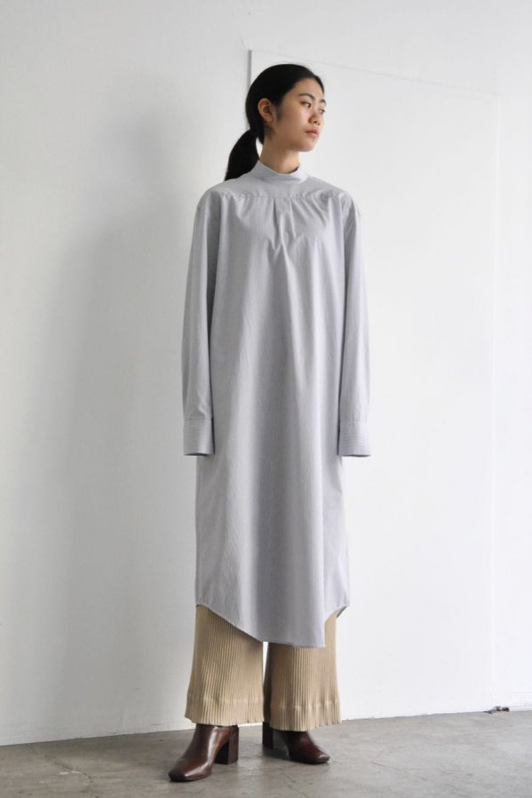 BASERANGE / HOMS SHIRT DRESS / FINE STRIPE