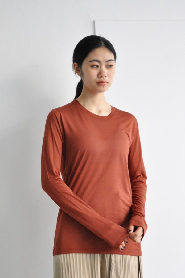 BASERANGE / LONG SLEEVE TEE / RUST