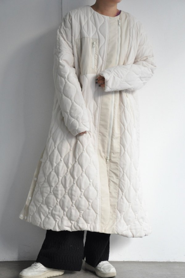 F/CE / WOOL QUILT SUPER LONG / WHITE