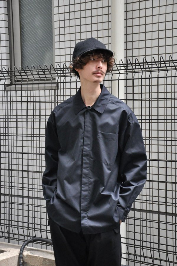 LOWNN / Minimal Shirt / Black Twill