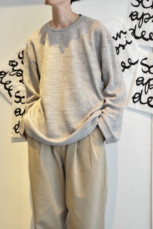 Edwina Hoerl / WAFFELSTRICK-PULLOVER / grey