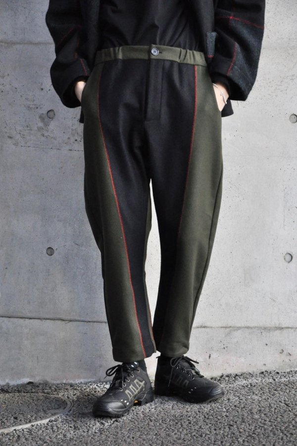 MARVIE LAB / BAGGY PANTS / BLUE,GREEN