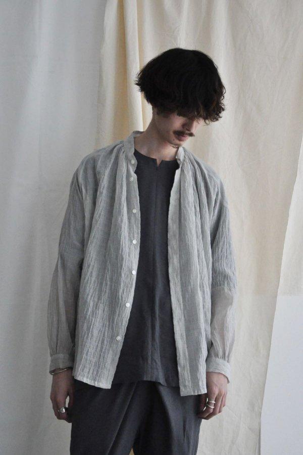 COSMIC WONDER / Celestial farmer shirt / Gray