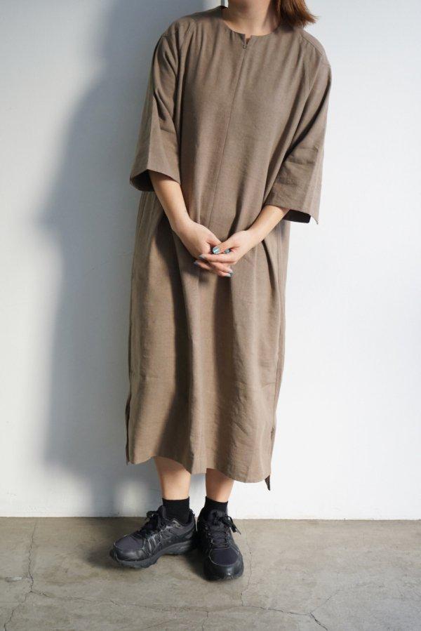 COSMIC WONDER / Silk & Linen wrapped dress / BLACK