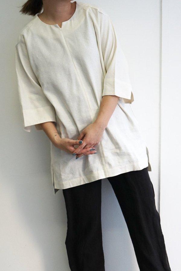 COSMIC WONDER / Silk & Linen wrapped dress / WHITE