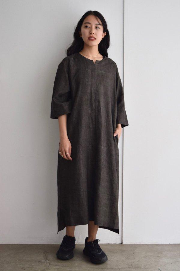 COSMIC WONDER / Sumizome smock dress / DARK SUMIKURO