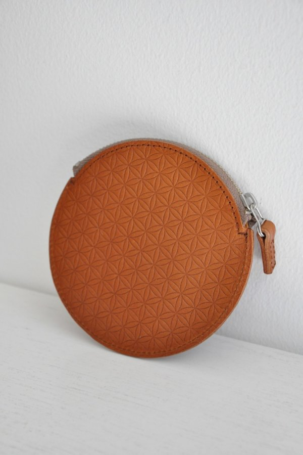COSMIC WONDER / Naturally tanned leather coin case / BROWN