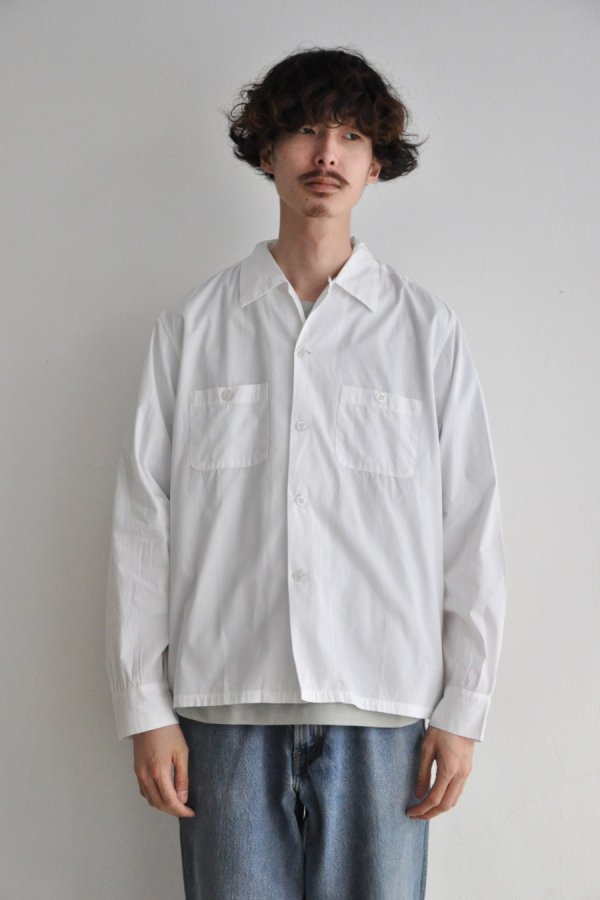 SEEALL  / OPEN COLLOR LS SHIRTS / WHITE