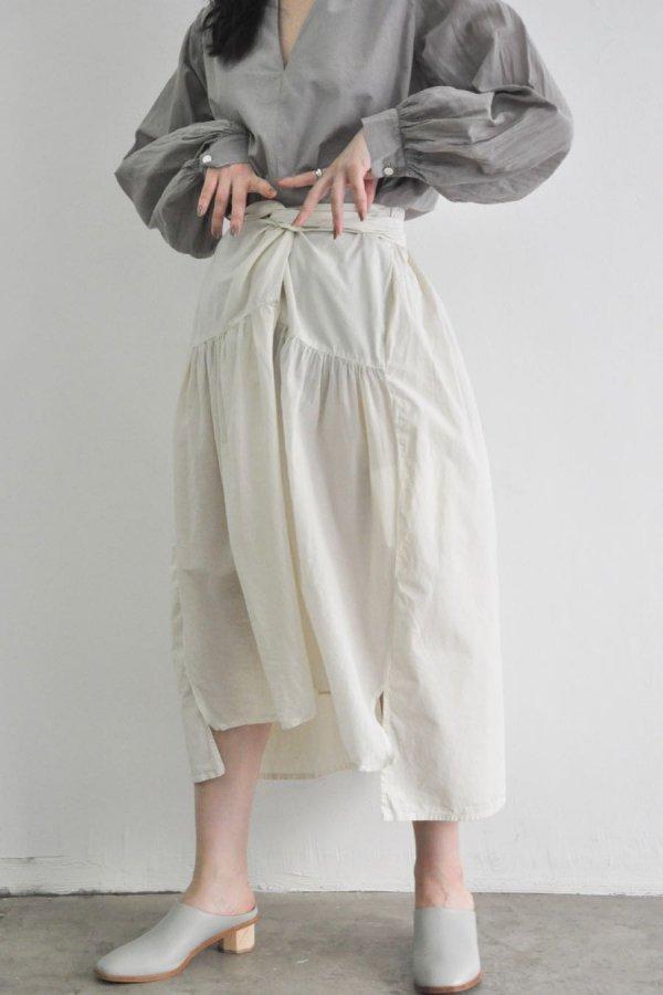 COSMIC WONDER / Beautiful silk cotton wrapped skirt / LIGHT LILY