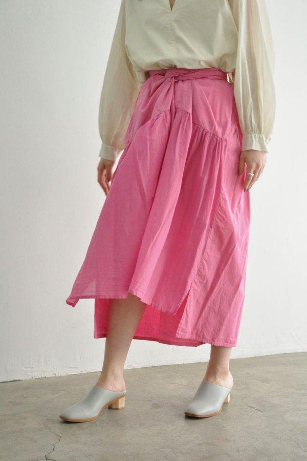 COSMIC WONDER / Beautiful silk cotton wrapped skirt / PLUM