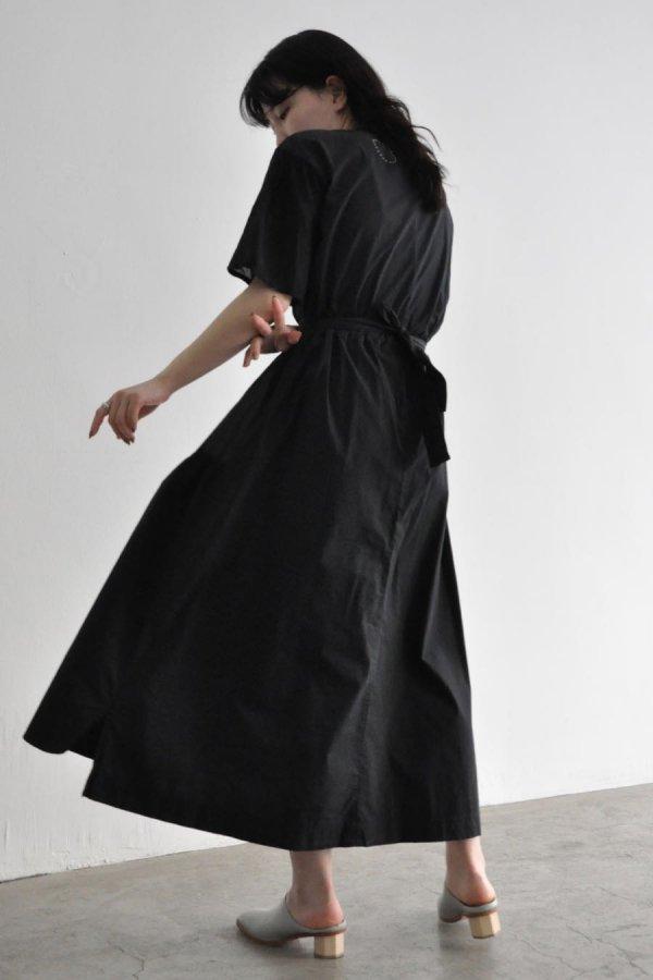 COSMIC WONDER / Beautiful silk cotton neck lace dress / BLACK