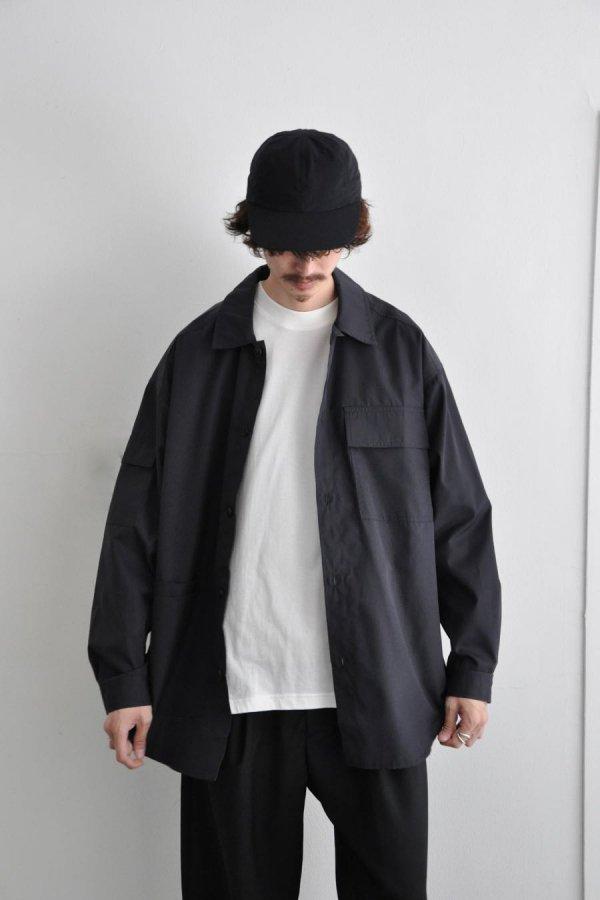 LOWNN / Utility Long shirt  / Noir