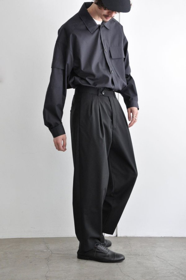 LOWNN / Wide Pants / Black