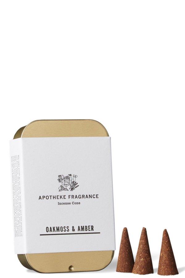 APOTHEKE FRAGRANCE / INCENSE CONES / OAKMOSS&AMBER