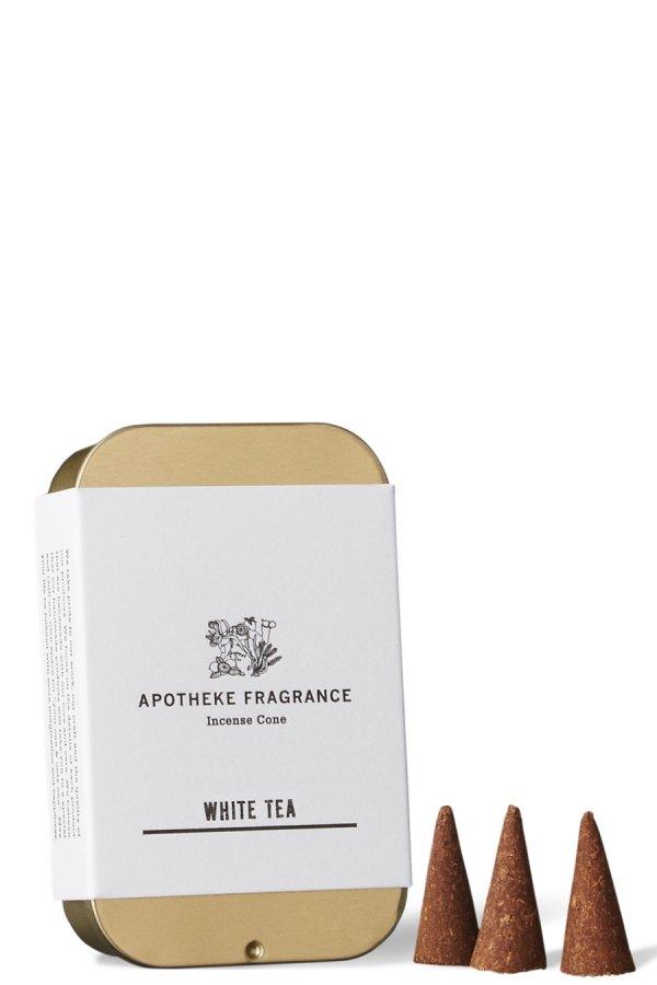 APOTHEKE FRAGRANCE / INCENSE CONES / WHITE TEA