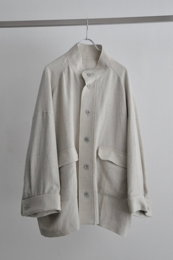 Edwina Hoerl / HBB STAND-UP COLLAR BLOUSON / OFF WHITE
