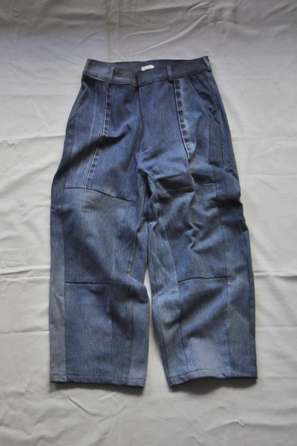 SEEALL  / RECONSTRUCTED CROPPED DENIM 1-1 / MIX