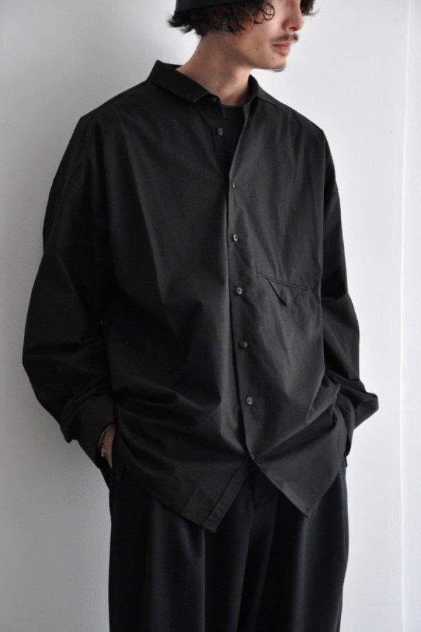 VOAAOV / ORGANIC COTTON BROAD BIG SHIRT / BLACK