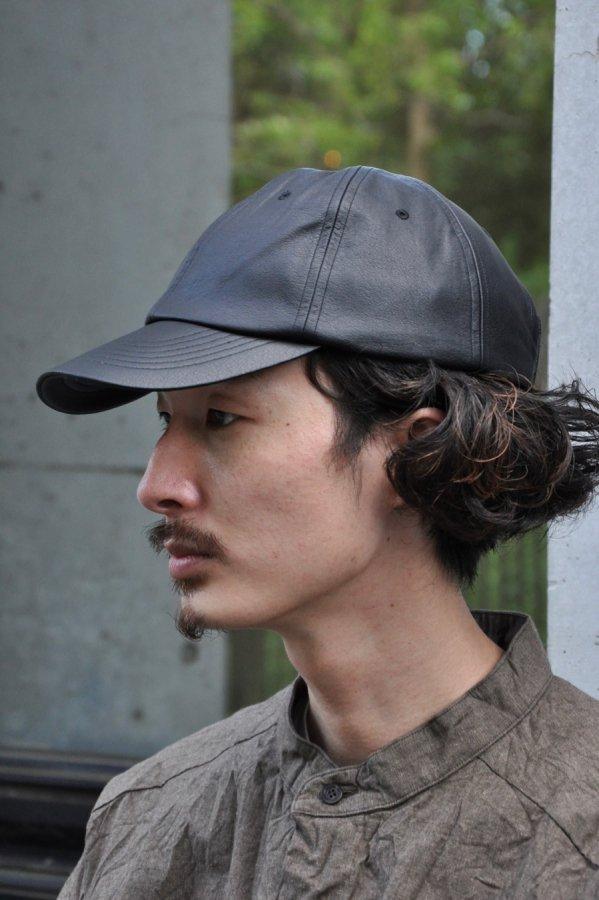 YOKO SAKAMOTO / LEATHER CAP / BLACK