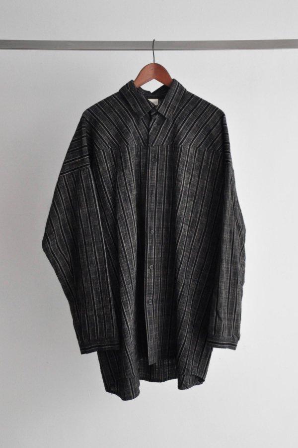 JAN JAN VAN ESSCHE / LONG SLEEVED,LOOSE FIT SHIRT / STRIPED COTTON CLOTH