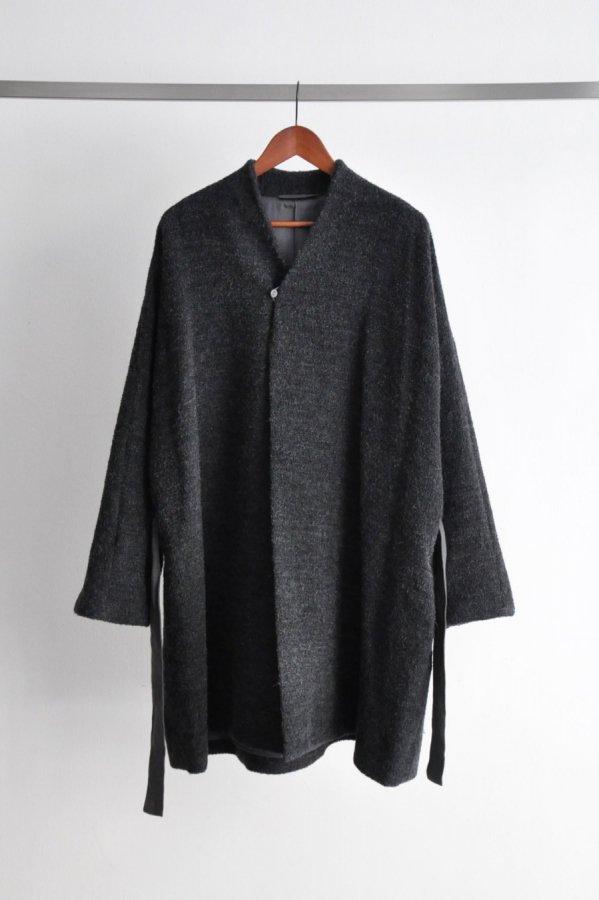 COSMIC WONDER / Alpaca cupro folk haori / Charcoal gray