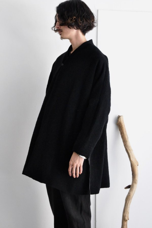 COSMIC WONDER / Alpaca cupro folk haori / Black