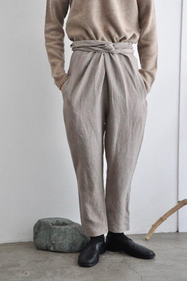 COSMIC WONDER / Linen canvas wrapped pants / Beige