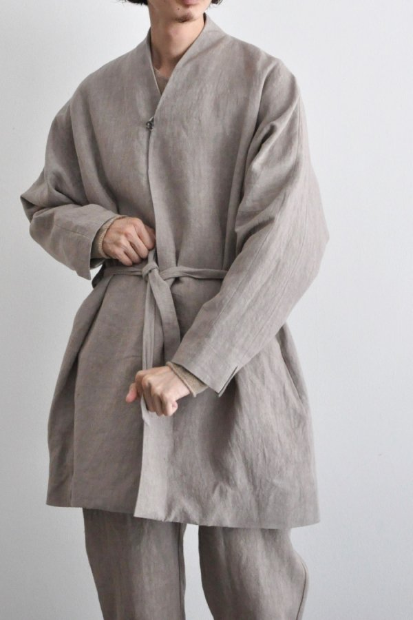 COSMIC WONDER / Linen canvas haori / Beige