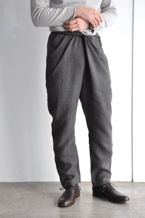 COSMIC WONDER / Linen canvas wrapped pants / Dark gray