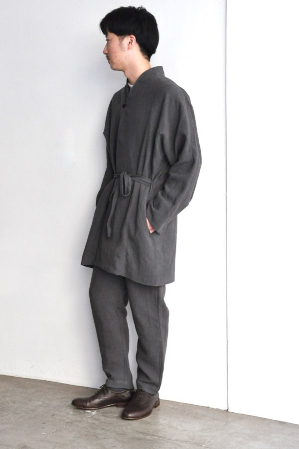 COSMIC WONDER / Linen canvas haori / Dark gray