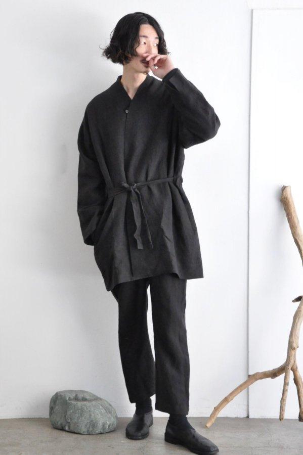 COSMIC WONDER / Linen canvas haori / Black