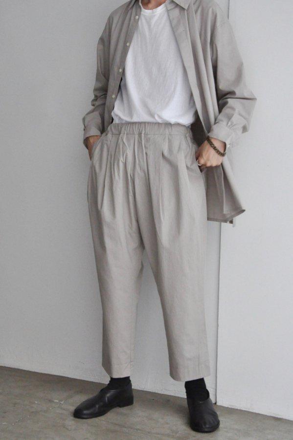 COSMIC WONDER / Cotton wool folk pants / Light gray