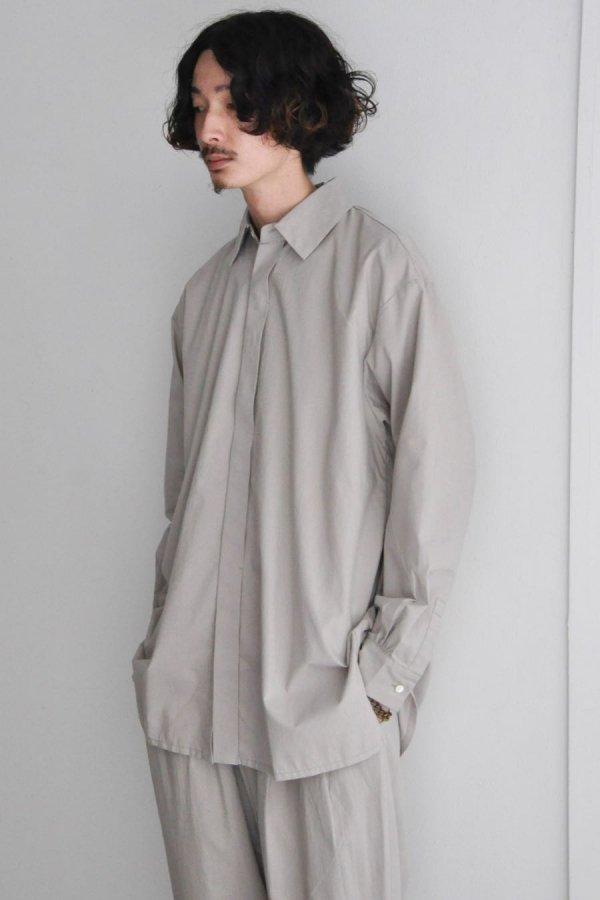 COSMIC WONDER / Cotton wool shirt / Light gray