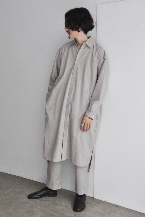 COSMIC WONDER / Cotton wool shirt dress / Light gray