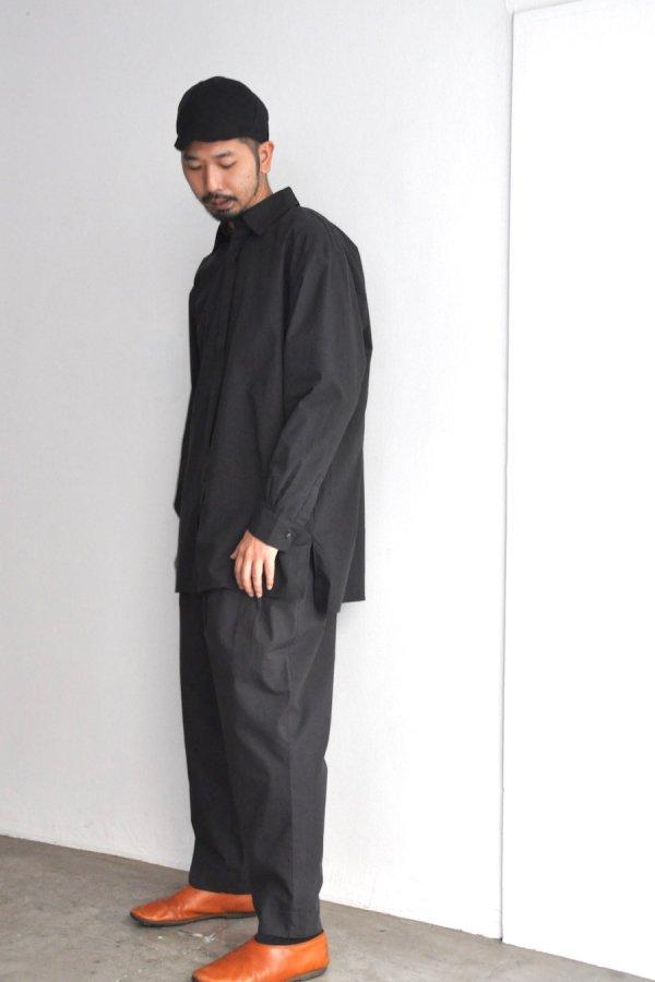 COSMIC WONDER / Cotton wool shirt / Light black