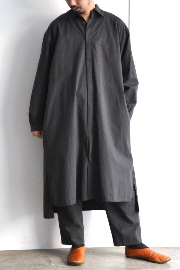 COSMIC WONDER / Cotton wool shirt dress / Light black