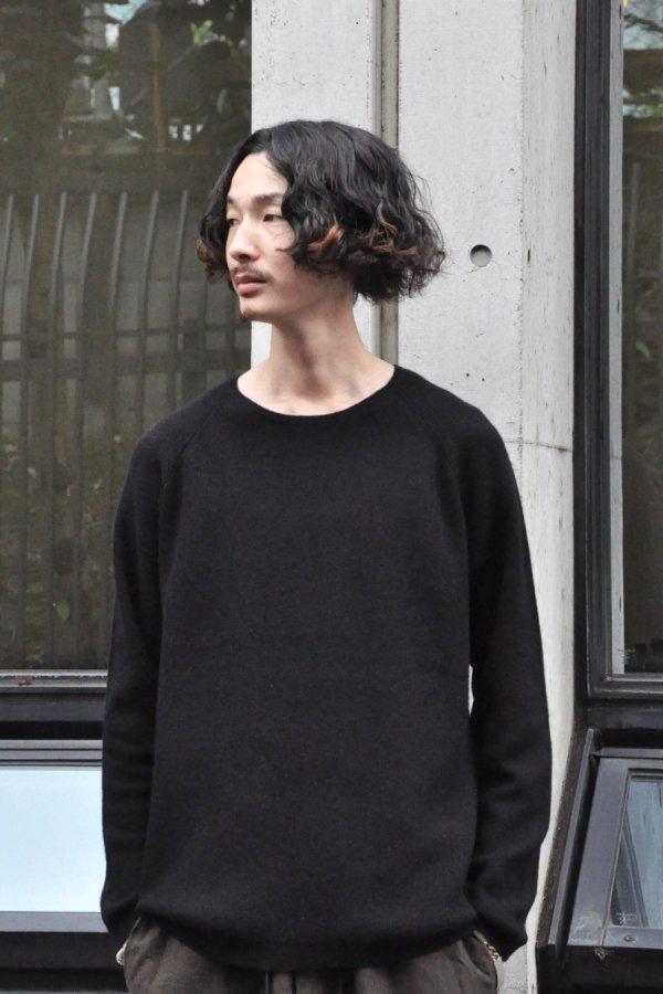 YOKO SAKAMOTO / RAGLAN KNIT / BLACK